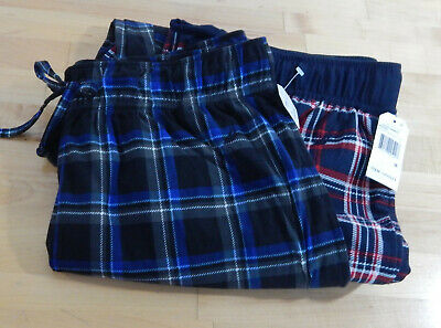 NWT 2 Pack Men's Nautica Fleece Pajama Lounge Pants, Sleepwear,