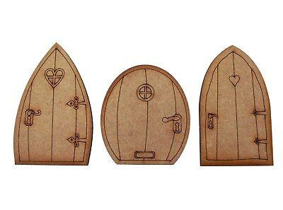 Wooden Fairy Doors Pack of Three Mini Fairy Garden Doors Fairy Door Accessories