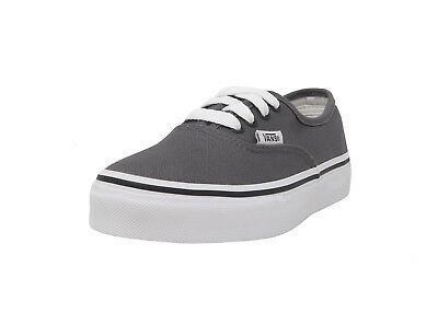 VANS Authentic Pewter Lace Up Canvas Youth School Kids Sneakers Girls Boys Shoes Pewter Kids Shoes