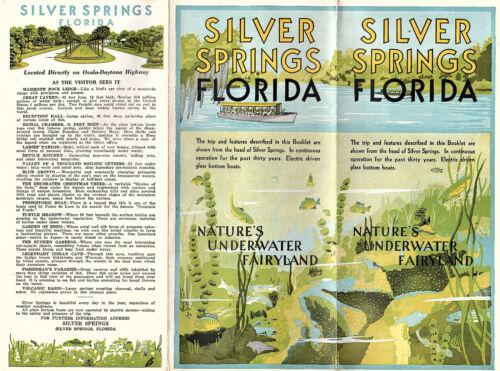 Silver Springs Florida Vtg Brochure Photos Map Circa 1930