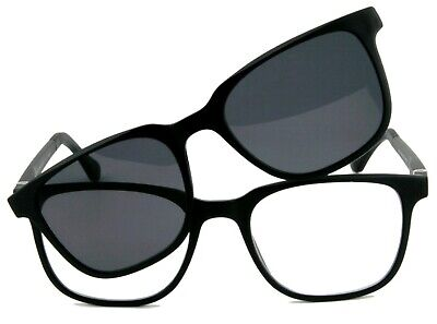 Fertiggleitsichtbrille, Herrenbrille mit Sonnenclip  +1,50 +2,00 +2,50