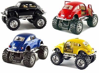 4 PC Set Kinsmart Off Road Monster Wheel 1967 VW Volkswagen Beetle 1:32 Discast