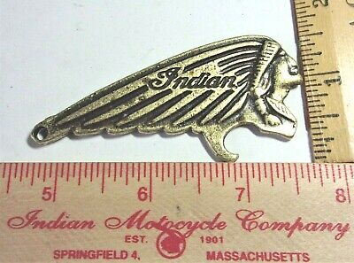 "vintage ""Indian"" opener collectible old USA motorcycle biker memorabilia barware"