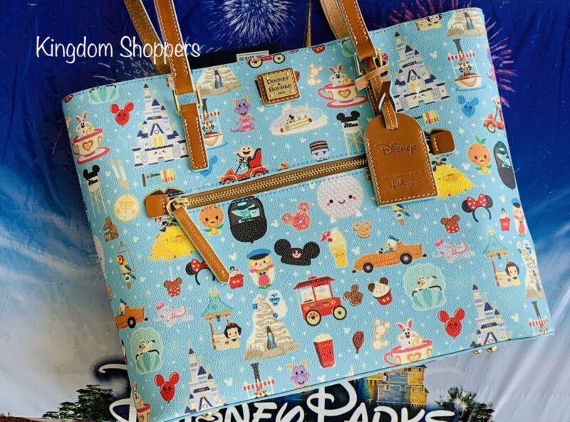2021 Disney Parks Dooney & Bourke Jerrod Maruyama A Walk In The Park Tote Bag A