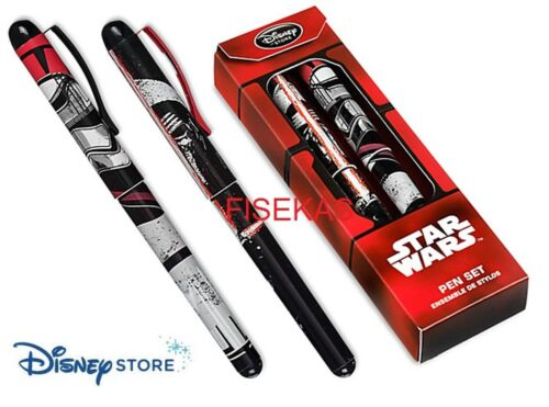 Star Wars Disney Store 2 piece Pen Set Kylo Ren Captain Phasma Ball Point NEW