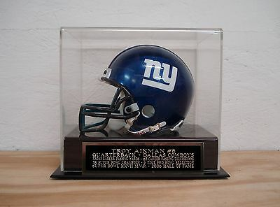 Display Case For Your Troy Aikman Cowboys Autographed Football Mini Helmet