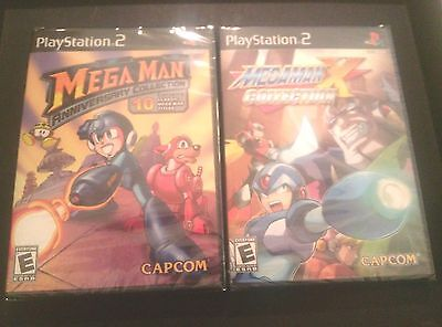 MEGA MAN ANNIVERSARY COLLECTION & MEGA MAN X COLLECTION two 2 games NEW!