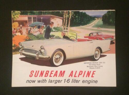 Vintage Rare Sales Brochure Sunbeam Sports Alpine Car