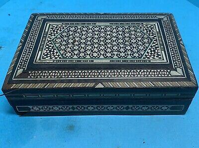 Vintage Indian Moorish Jewellery Trinket Box - FREE POSTAGE -