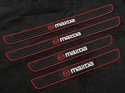 4PCS Black Rubber Car Door Scuff Sill Cover Panel Step Protector For Mazda](Door Cover)