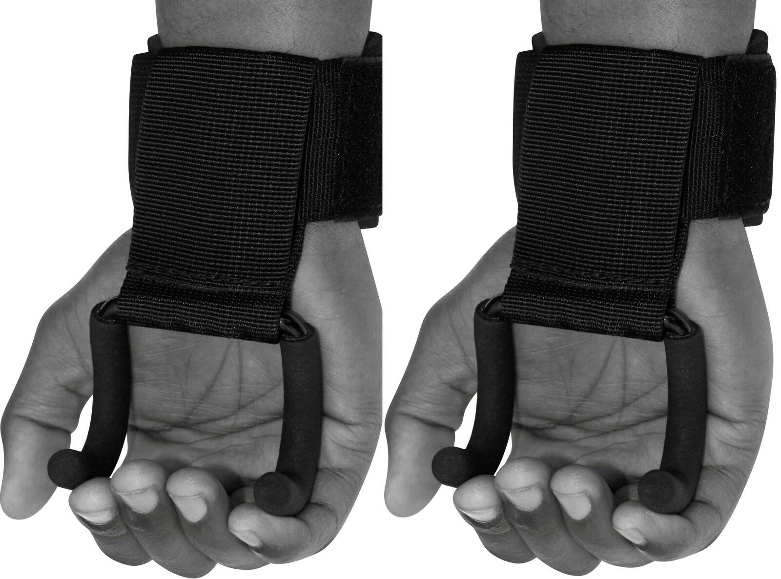 RDX Pro Weight Lifting Training Gym Hook Grips Straps Gloves Wrist Support W8B