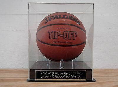 Display Case For Your San Antonio Spurs 2006-2007 NBA Champs Signed Basketball