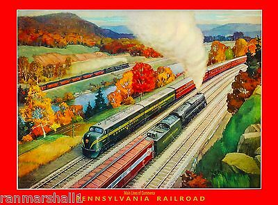 Pennsylvania Railroad Main United States America Travel Advertisement Poster