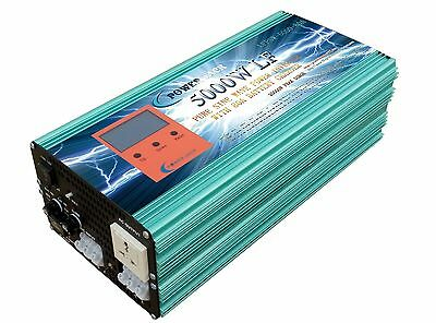 5000w LF pure sine wave SOLAR power inverter dc 24v/ac 110V with 80 AMP ATS
