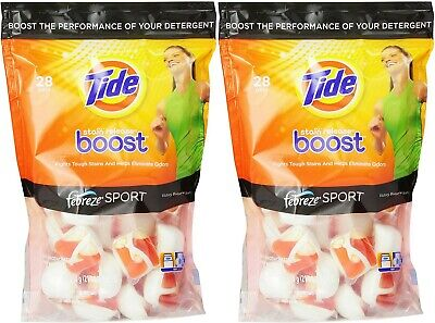 Tide Boost Laundry Detergent Pods Febreze Sport Victory Boost Scent 56 Count