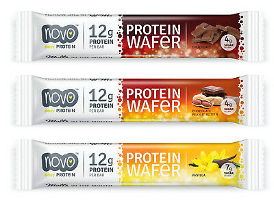 Protein Wafer (Novo Nutrition Protein Wafer - 12 x 38g High Protein Wafer Bars)