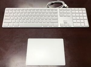 Apple Trackpad 2.0 and Wired Keyboard. Perfect Condition.