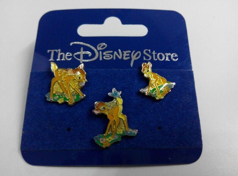 VHTF JDS mini Bambi 3 Pin Set (Japan Disney Store Tokyo Thumper Lot Set )