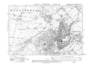 Old Map of Harrogate, Yorkshire -1910 - Repro 154 SW