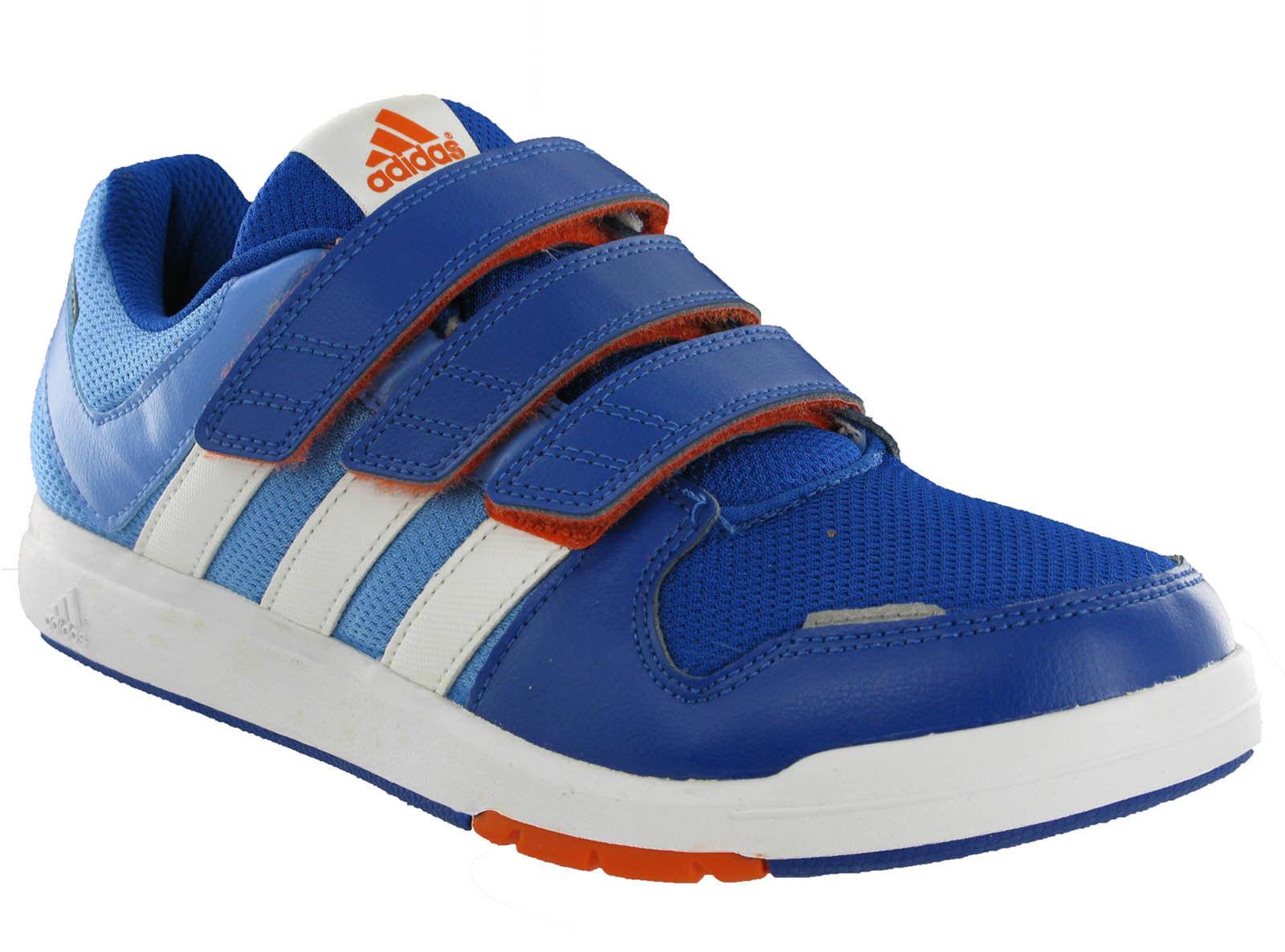 Détails sur Adidas Lk Baskets 6 Cf Junior Enfants Velcro Bleu Sports Fitness Décontracté