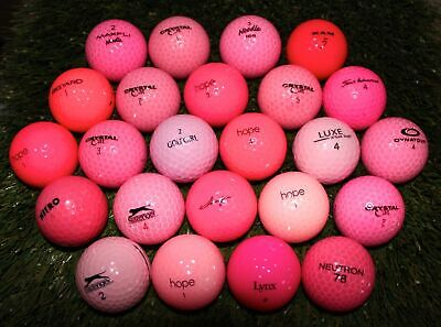 24 Assorted Pink Mix AAA (3A) Used Golf Balls - FREE Shipping (Golf Balls Pink)