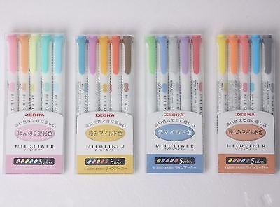 ZEBRA Mildliner Soft Color Double-Sided Highlighter Pen 20-Colors 4 SET WKT7