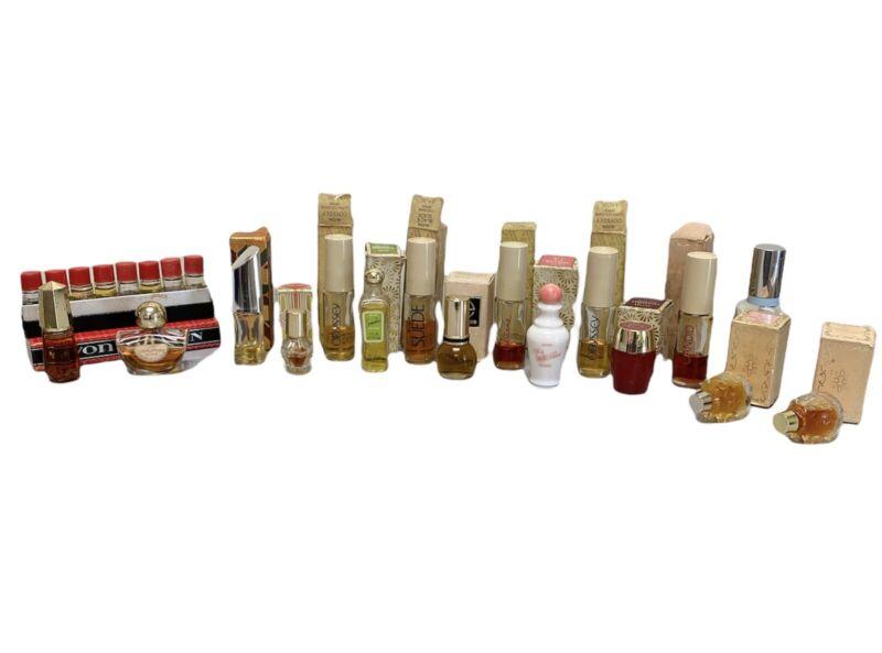 AVON Vintage Men Women Perfume Decanter Collector Mid Century Lot Of 17