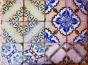 12 riggiole mattonelle piastrelle antiche sicilia ottocento storiche 20x20 18 ebay - Piastrelle siciliane antiche ...