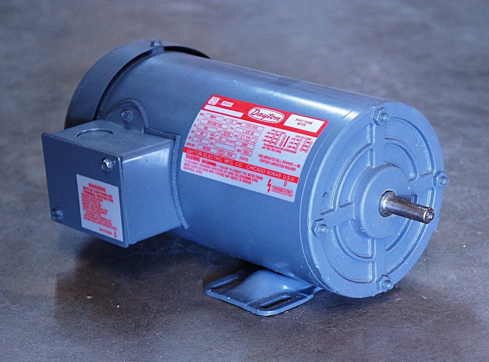 GE 5KCP35KG 279T 1//4 HP 48Z 900 RPM 380-440 VAC Electric Motor