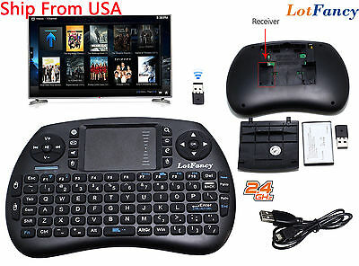 2.4Ghz Mini Wireless Keyboard With Touchpad For PC Android Smart TV PS3 Pad Box