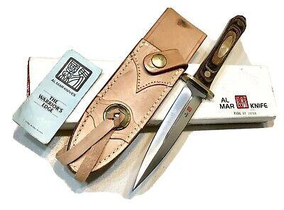 Vintage 1980' Al Mar Seki Japan LE 178/200 Boot Dagger Knife Sheath Case Mint
