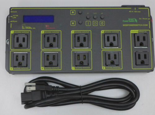 Digital Loggers Inc Switching Power Strip LPC7 With Power Cord Partially Tested