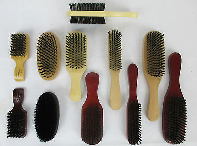 LOT OF 2--BOAR & PLASTIC BRISTLE WAVE  WOODEN HAIR BRUSH SOF
