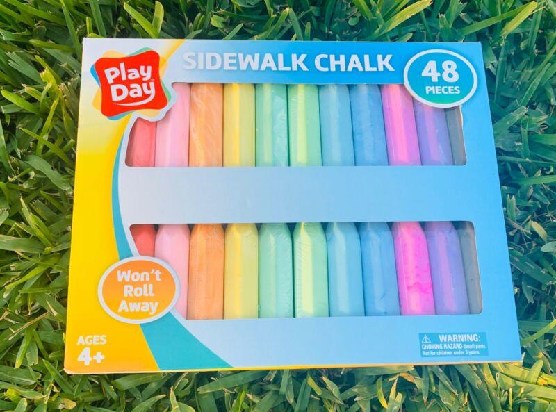 Sidewalk Chalk 48-Piece - Kids Jumbo Sidewalk Chalk - Outdoor Activity Art 🖼