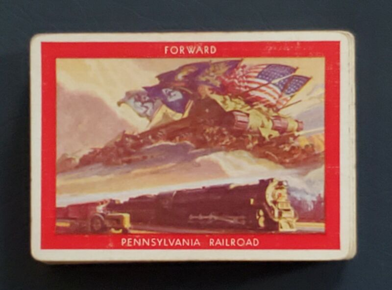 Pennsylvania railroad Playing cards   FORWARD  1945 open deck