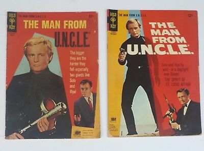 Man From Uncle  9 And  11  Gold Key Comics 1966 67 Gd