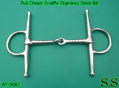 Full Cheek Snaffle Stainless Steel Mouth Bit 5'', BT-0087