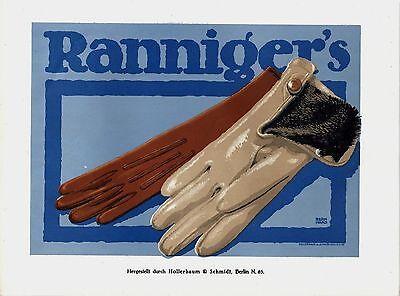 Original vintage poster print RANNIGER FASHION c.1910 Berhard