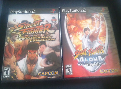 Street Fighter Anniversary Collection & Street Fighter Alpha Anthology PS2 Games