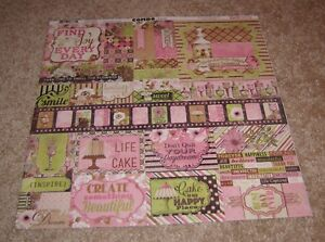 Bo Bunny 12x12 Combo Sticker Sheet ~ Sweet Moments Collection