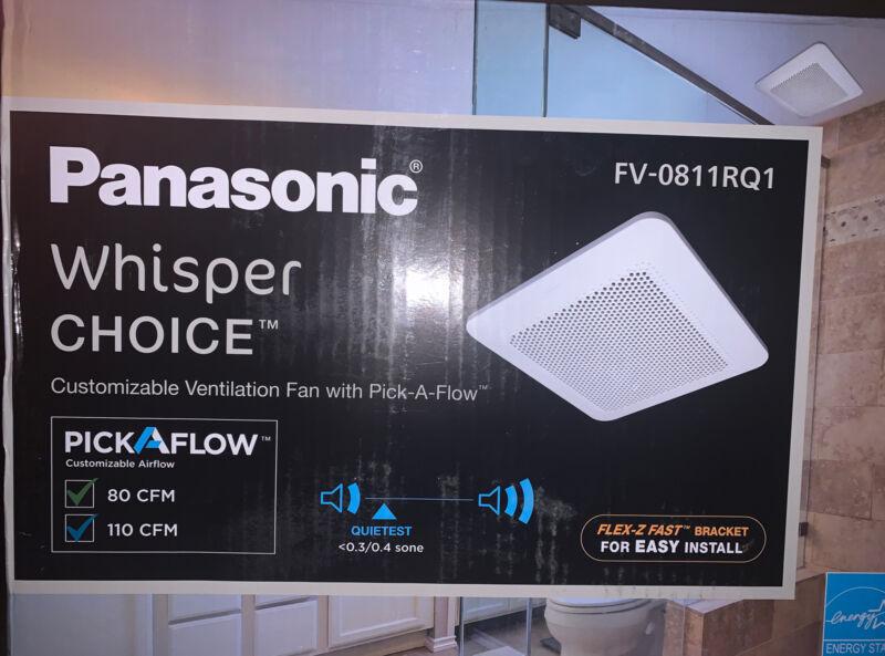 Panasonic FV-0811RQ1 WhisperChoice Pick-A-Flow 80/110 CFM Ceiling Bathroom...