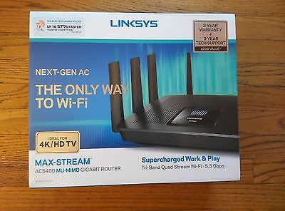 NEW LINKSYS EA9500 AC5400 MAX-STREAM WiFi TRI-BAND Wireless Router *MU MIMO