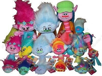 Plush Dreamworks Troll Dolls Poppy Cooper Branch Harper Biggie Guy DJ