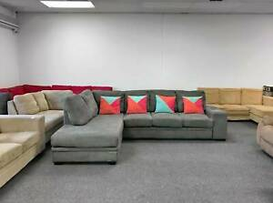 DELIVERY TODAY MODERN GREY L shape corner sofa lounge