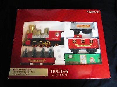 Santa Express-Christmas Train Set-Holiday Living #0585415-New in Box