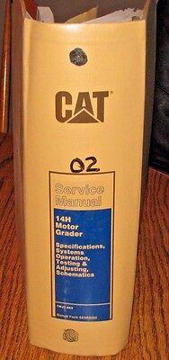 Caterpillar Cat 14h Motor Road Grader Service Repair Shop Op Manual Senr8560