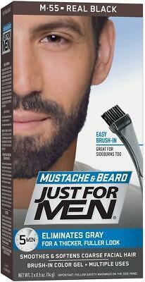 Just for Men Moustache & Beard Dye - M55 – Real Black - Men's Facial Hair Colour