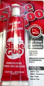TRAINER & SHOE GOO  LARGE Clear Glue Adhesive Repair canvas leather rubber