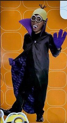 Minions - Minion Dracula black purple yellow costume M (8-10) Rubies 610782 NWT - Purple Minion Costume