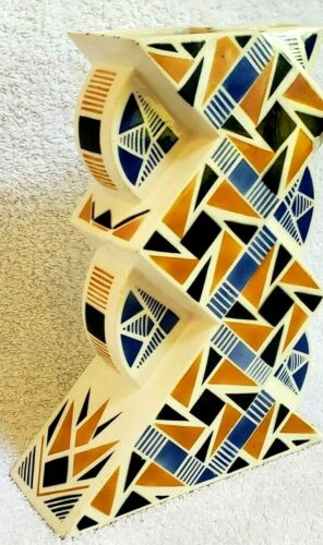 France K&G LUNVILLE VASE AIRBRUSHED  Spritzdekor BAUHAUS CERAMIC ART DECO 20s